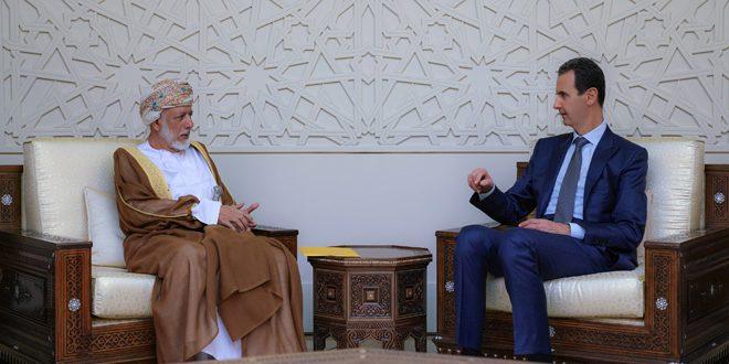 دام برس : دام برس   الرئيس الأسد يبحث مع وزير الشؤون الخارجية العماني العلاقات الثنائية ومساعي استعادة الأمن بالمنطقة