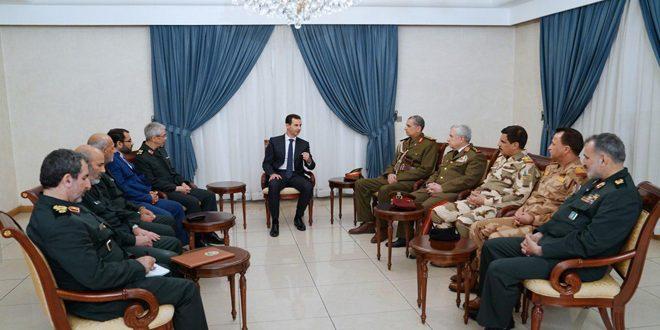 دام برس : دام برس | الرئيس الأسد: العلاقة التي تجمع سورية بإيران والعراق متينة تعززت في مواجهة الإرهاب ومرتزقته