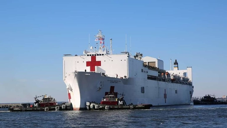 دام برس : دام برس | أمريكا ترسل مشفى حربياً بحرياً إلى الخليج.. ولواء عسكري مصري: