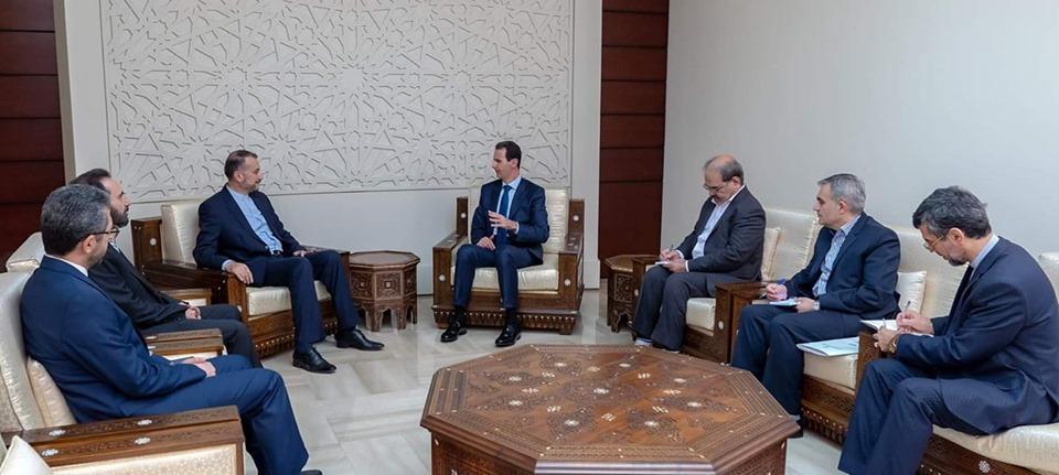دام برس : دام برس   الرئيس الأسد يستقبل المساعد الخاص لرئيس مجلس الشورى الإسلامي الإيراني