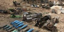العثور على أسلحة متنوعة وذخائر وألغام داخل أوكارهم في تير معلة والدار الكبيرة